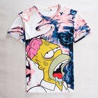 Wholesale Simpson Flash - [Alice]free ship wholesale summer Women Men Girl t shirt pink interesting Simpson print short-sleeve casual 2015 3d t-shirt top