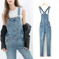 Wholesale Casual Jumpsuits For Women Plus - Women Ripped Hole Denim Jumpsuits Ladies Sexy Slim Casual Romper Plus Siz 42 Denim Pencil Overalls For 4 season