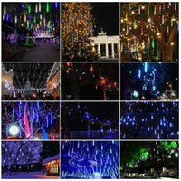 Led 2017 8PCS / Set Snowfall LED Strip Light Luzes de Natal Tubo de chuva Meteor Shower Rain Tubos de luz LED 100-240V EU / US Plug