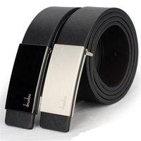 ingrosso fibbie ovali-All'ingrosso jinggton ovale New Mens Automatic Buckle Leather Formal Waist Strap Belt Belt