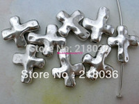 100pcs Antiques Silver Cross Charms Spacer Beads For Bracelet Collier Accessoires DIY Fashion Making Jewelry M1641