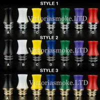 Wholesale Dct Cartomizers - Colorful Stingray Drip Tips 510 Wide Bore plastic Drip Tip ego atomizer mouthpieces for ce4 dct rda rba e cig mechanical mods cartomizers