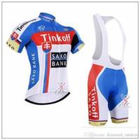 Wholesale Saxo Bank Tinkoff Bib Shorts - hot sale Tinkoff saxo bank cycling jerseys flag style bike wear size XS-4XL short sleeves cycling jersey set Breathable bib none bib pants