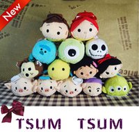 HOT juguetes de peluche TSUM TSUMS Mickey Minnie Winnie Kawaii Dolls animado móvil de la pantalla Limpiador llavero bolso de la suspensión para el teléfono móvil Ipad