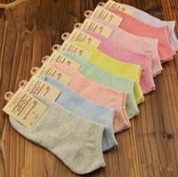 Wholesale Cheap Wholesale Sweats - Wholesale-Beautiful candy color colorful absorb sweat comfortable wholesale cheap women socks Female brief paragraph socks