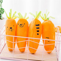 Wholesale plush carrot - Creative Carrot Pen Bag Stationery Supplies Novelty Kawaii Plush Pencil Case For Student Gifts 3 8lc C R