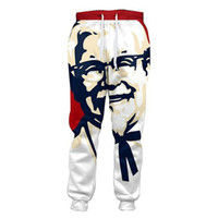 Wholesale New Clothes For Women - Wholesale- 6XL New Funny KFC Colonel 3D Joggers Pants Women Men Casual Loose Trousers Bottoms Men's Clothing For Unisex Hip Hop Homme