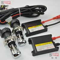 Wholesale H4 35w Slim Xenon Kit - 1 set DC 12V 35W HID Bi Xenon Hi Lo Beam Slim Ballast with wire harness Kit H4 Bi-xenon Conversion Bi Xenon h4-3 6000K