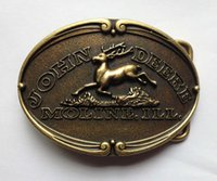 pewter animals - THE BRONZE Color DEERE With Pewter Finish belt buckle with pewter finish suitable for cm wideth belt with continous stock