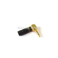 kostenlose kopfhörerbuchsen großhandel-10 teile / los 90 Grad Jack 3,5mm Kopfhörer Stecker Rechtwinklig 4 Pole Stereo Audio Jack Reiner kupfer Stecker Adapter Kostenloser versand