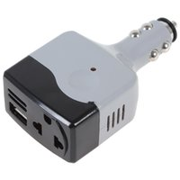 Wholesale Ac Dc Usb Adapters - DC 12   24V to AC 220V   USB 6V Car Mobile Power Converter Inverter Adapter CEC_302