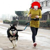 Wholesale Big Dog Lead - Elastic Belt Running Large Dog Leash Lead Sports Jogging Walking Big Dog Collar Rope Morning Run Hand Free Waist Dog Leash Set