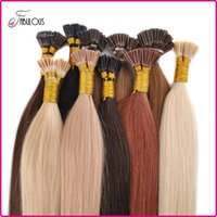 """Wholesale I Tip Remy Hair - Hot Sell I Tip Hair Extensions 18-24"""" 100Strands lot Keratin Thick Tip Hair Brazilian Virgin Hair Extension Remy Human Hair Big Promtion"""