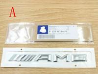 decalques de tubarões venda por atacado-Alta qualidade 3D etiqueta do emblema do carro ABS AMG SLKGLSL classe Reequipamento brocas de tubarão lado tronco traseira decalque logotipo adesivos decorativos para Mercedes