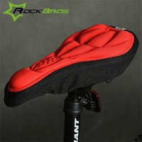 Wholesale Gel Seats For Bicycles - RockBros 3D Silicone Lycra Nylon & Gel Bike Bicycle Cycling Cycle Seat Saddle Cover, Ventilate Soft Cushion For All Bikes 147