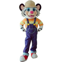 Wholesale Cool Mascot Costumes - Cool Kaka Tiger Mascot Costume Animal Cartoon Kindergarten Party Fancy Dress New