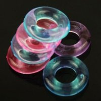 Wholesale Stay Hard Cockrings - 100pcs lot Penis Cockrings Penis Ring Sex Toys Male Men Cock Penis Rings Delaying Ejaculation Stay Hard Donuts Flexible Glue Cockring