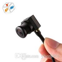 Wholesale Top Spy Cameras - Top Quality 650TVL Mini Security CCTV Camera Hidden Analog Audio Camera Spy Home Surveillance Cam Wide Angle