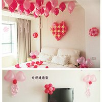 Wholesale Cheap Balloons Free Shipping - In Stock Balloon Wedding Decorations Colourful Sweetheart Bridal Accessories Cheap Supplies Free Shipping Heart-Shaped Balloon Ready To Ship