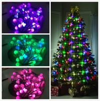 au farbe großhandel-Weihnachtsdekorative Lampen-Weihnachtsbaum-Schnur-Lichter, die Farbe ändern US / UK / EU / AU Festliche Partei-Feiertags-Beleuchtung schaffen eine helle Show