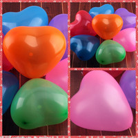 Wholesale Yellow Heart Balloons - 100pcs 12 Inch 1.5g Latex Heart Balloon For Wedding Christmas Birthday Baby Shower Party Home Hotel Decoration Supplies Wholesale Cheap