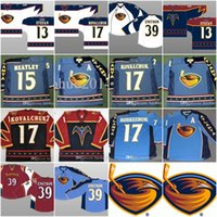 Wholesale Kovalchuk Jersey - Atlanta Thrashers Jerseys #17 ILYA KOVALCHUK 15 DANY HEATLEY 39 Tobias Enstrom 13 Stefan Vintage Throwback Hockey Jerseys All Stiched