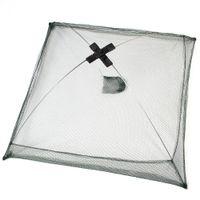 Wholesale Dip Nets - Foldable Hex Fishing Net Crab Crawdad Shrimp Minnow Fishing Bait Trap Cast Dip Net Cage Nylon Fishing Net