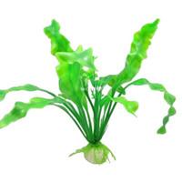 ingrosso pesci di pesci di casa piante artificiali-Spedizione gratuita 3 pz / lotto bella verde artificiale di plastica erba pianta casa acquario serbatoio di pesce decorazione