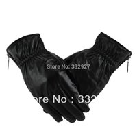 Wholesale Sheep Gloves - Wholesale-men winter sheep skin leather gloves warm gloves 011A