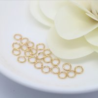 Wholesale Copper 8mm Jump - 24K rose gold filled copper open jump ring 3-8mm DIY jewelry accessories 100pcs