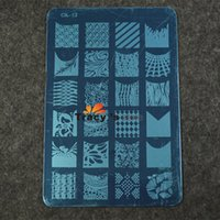 Wholesale Manicure Beauty Care Images - Wholesale-5pcs New 14.5x9.5cm French Tips Designs Image Stamping Nail Art Plates Manicure Nail Art Templates Beauty Care Tools NA193
