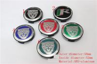 Wholesale Type S Badge - 4pcs 58mm Wheel Center Covers Hub center caps car covers Caps Emblem Fit for Jaguar S TYPE X TYPE XJ8 XK8 XKR badges decoration