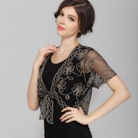 Wholesale Chiffon Small Shawl - Wholesale- New 2015 Summer Wild Perspective Small Shawl Chiffon Lace Cardigan Gauze Lacing Boleros Fashion Womens Clothing Free Shipping