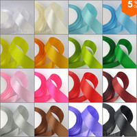 Wholesale Satin Ribbon Tape - 500 yards lot Satin Ribbon 6mm 25 Yards 22 Meters Wedding Ribbon Silk Ribbon Party Decoration Satin Tapes Crafts Decor Decorative Ribbons