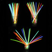Wholesale Christmas Flashing Light Necklace Wholesale - LED Light Sticks 7.8 Inch Glow Sticks Bracelets Necklaces Neon Party LED Flashing Light Wand Novelty Toy Vocal Concert Flash Stick 0037CHR