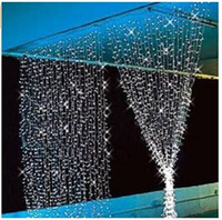 Wholesale Christmas Lights Window Decorations - 300 LED Window Curtain Icicle Lights String Fairy Light Wedding Party Home Garden Tree Decorations 3m*3m