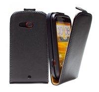 Wholesale Desire C - Genuine Leather case For HTC Desire C A320e Flip Cases Cover PY