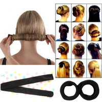 Wholesale Diy Hair Styling Tools - Hot Sales Fashion Korean Style Hair Styling Tool Hair Bun Maker (T218) Cute Buns Head Maker DIY French Donut Free Shipping