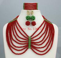 Wholesale beaded purple jewelry set resale online - 2016 Lovely Purple African Beads for Women Jewelry Set Handmade Nigerian African Beaded Choker Necklace Set SD808
