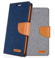 Wholesale Iphone 5c Case Lining - Cowboy lines Mercury Wallet Leather Hybrid Case Flip Cover for iPhone 5 5s 5c 6 6s 7 Plus Samsung Galaxy S5 S6 Edge Note 5