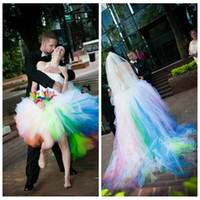 Wholesale rainbow wedding dress buy cheap rainbow wedding dress ball gown rainbow wedding dress halter ball gown tulle puffy colorful wedding dresses rainbow high junglespirit Image collections