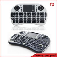 Wholesale White Keyboard Mouse Combo - 2.4G Touch Fly Air Mouse Chargeable Battery USB Cable Black and White Portable Rii Mini I8 Wireless Keyboard Mouse Combo Touchpad PC