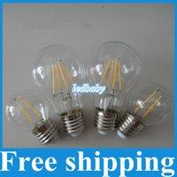 glühbirne e26 e27 großhandel-LED Faden LED Faden Birne 2W 4W 6W E27 E26 LED Faden Birnen 360 Grad LED Faden Lampe PFEILER LED Faden Lichter