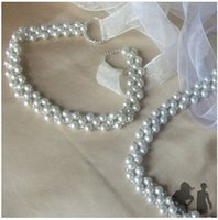 Wholesale Vintage Rhinestone Belts - Beaded Wedding Ribbon BELT New Vintage White Bridal Wedding Dress Rhinestone Sash Beaded Pearl Belt