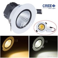 CREE 50PCS led Downlights 9w cob LED encastré lihgt Downlight Dimmable Chaud / Cool blanc Led lampe de plafond CE ROHS