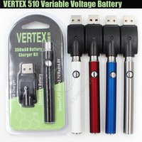 Wholesale G2 Charger - New Vertex LO Variable Voltage Battery vv Charger Kit 350mAh CO2 Thick Oil Pre heat BUD Touch Vape Pen 510 Atomizers CE3 Tank G2 Cartridges