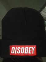 Wholesale-100% Acryl Unisex Hiphop Beanies für Winterthermal Hats Customized DIY Beanies Disobey