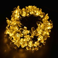 Solar Fairy LED Christmas String Lights Outdoor Fairy Flower Blossom  Decoration Xmas Wedding Party Garden Lights Multi Colors from