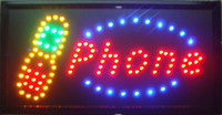 Wholesale Inch Led Open Sign - 2016 LED phone store sign new 10X19 Inch Graphics Animated motion Running phone shop Led neon open sign