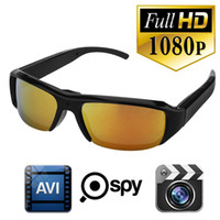 Wholesale Video Audio Recorder Cctv - HD 1920x1080P Sunglasses Camera Spy Hidden Camcorder Pinhole Camera Video Recorder Hidden Mini Camcorder CCTV Camera Support Audio Record